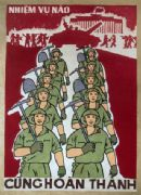 Vintage Vietnamese Soldiers Going To War Poster